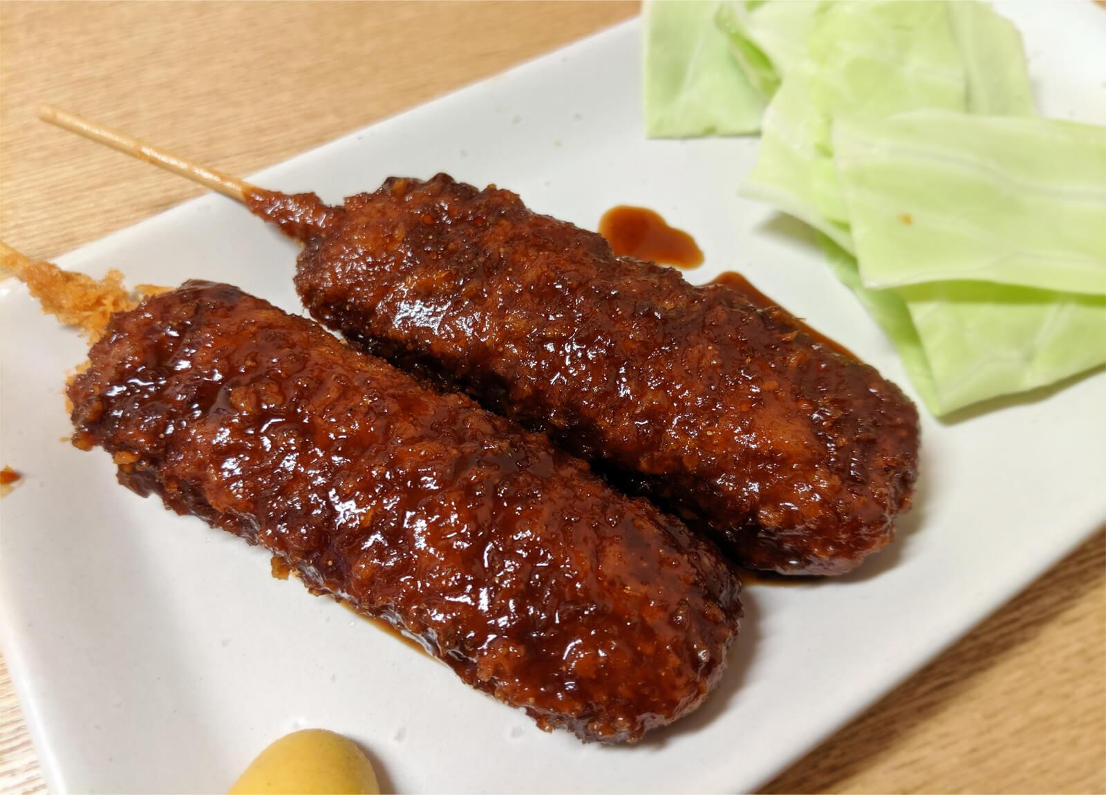 赤味噌のどて串カツ