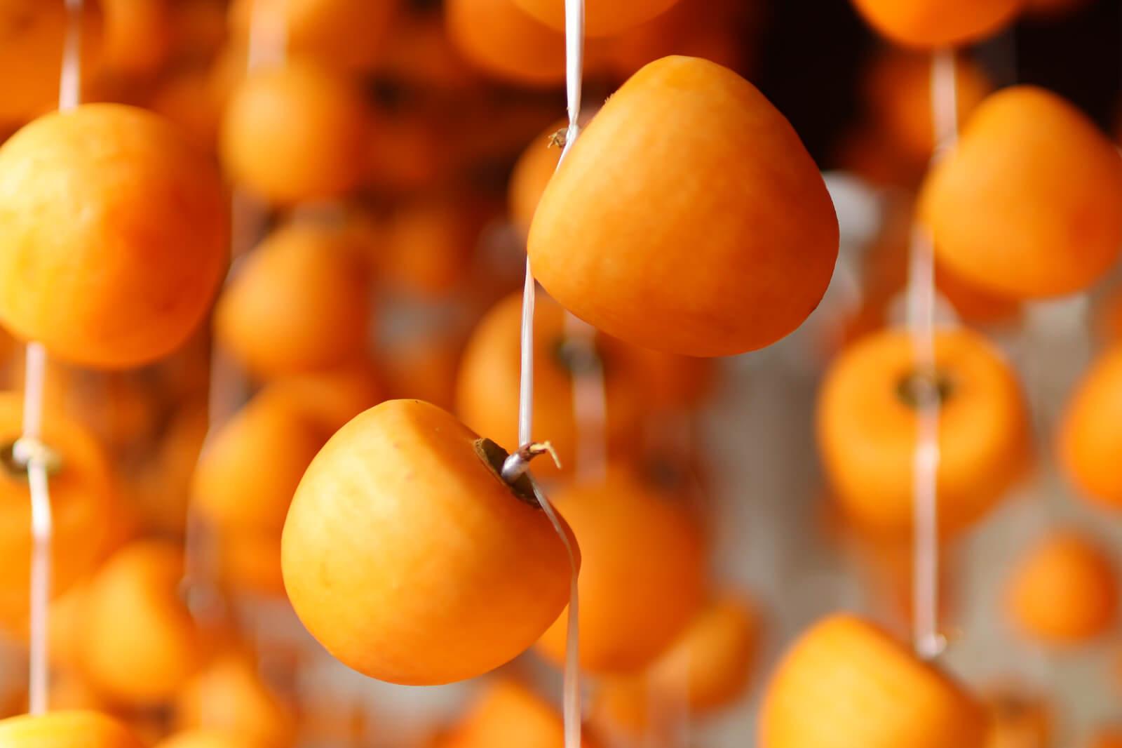 干し柿(中心に2つ)