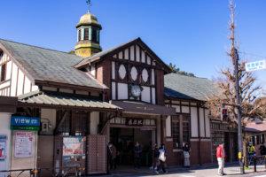 原宿駅を斜めから撮影