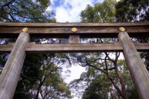 明治神宮の入り口の鳥居