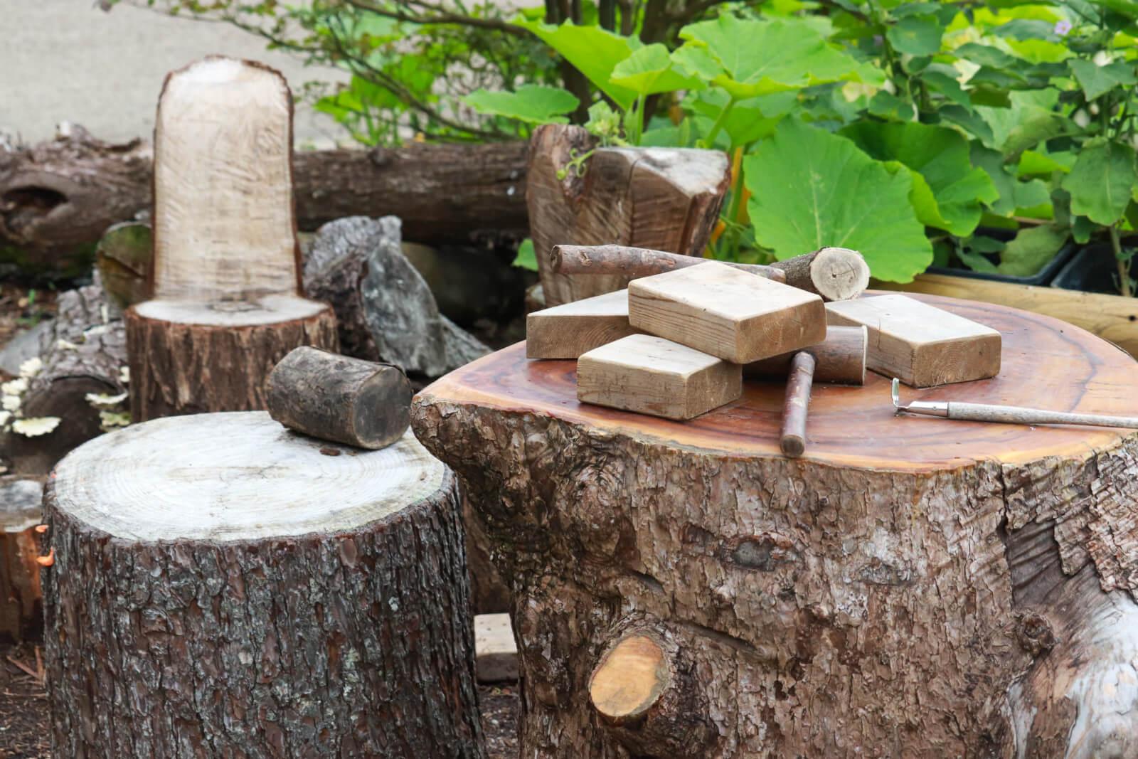 丸太と木材